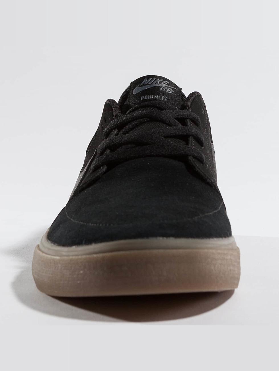 Nike Sb Scarpa / Sneaker Sb Solare Affrancatura Morbida Ll Più Nera 363 025 MLHluBNk