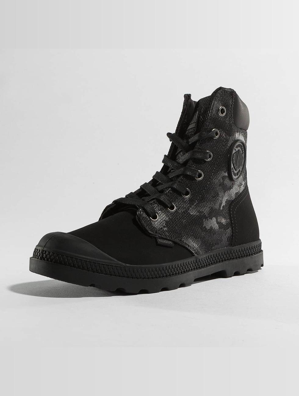 Lage Verzendkosten Goedkoop Online Kortingen Online Palladium schoen / Boots Pampa Hi Knit LP Camo in zwart 401611 Goedkope Koop Warm Te Koop DM97F819K