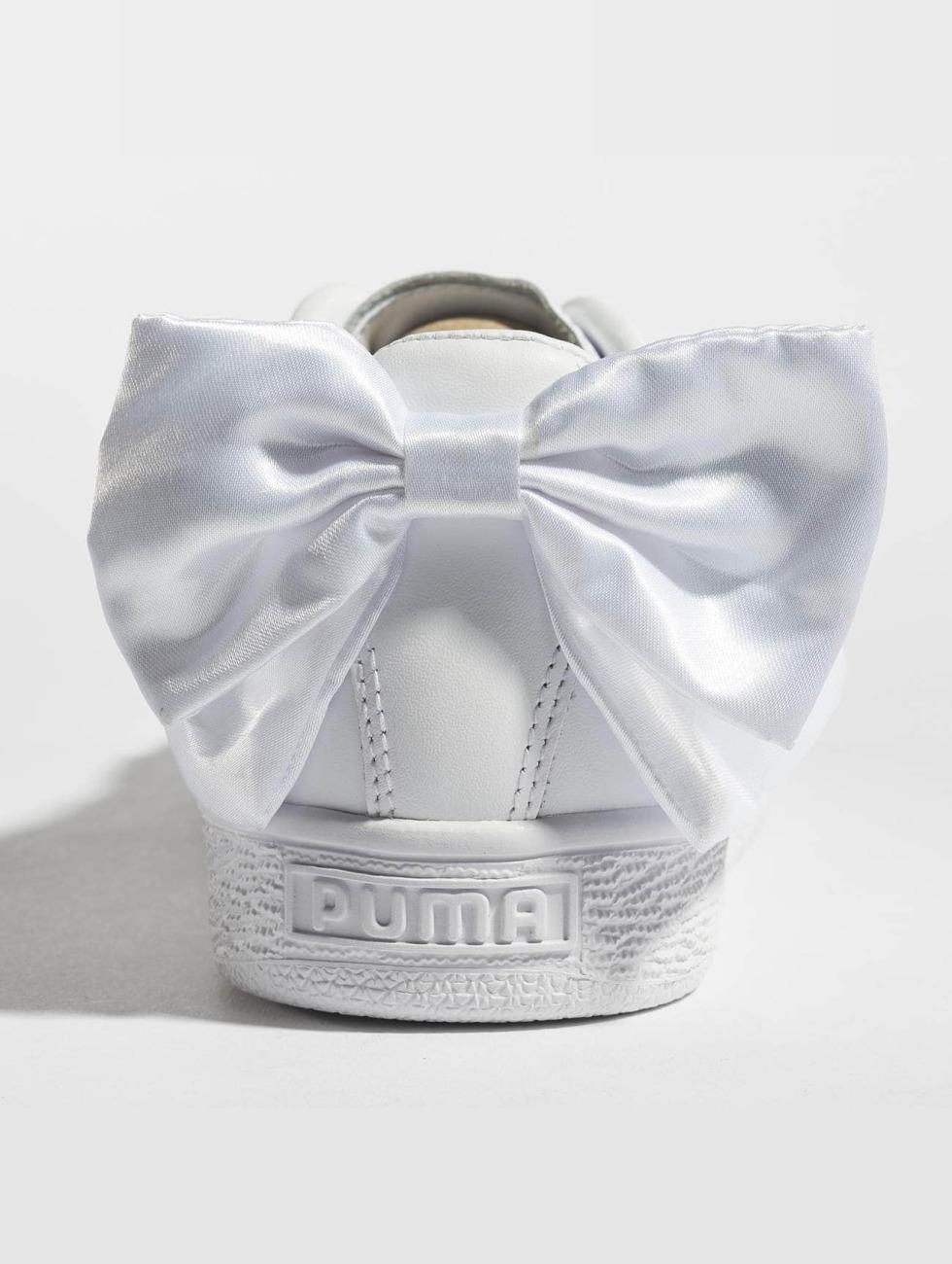 Aaa Kwaliteit Discount Winkel Puma schoen / sneaker Basket Bow in wit 425797 LpdHIsg