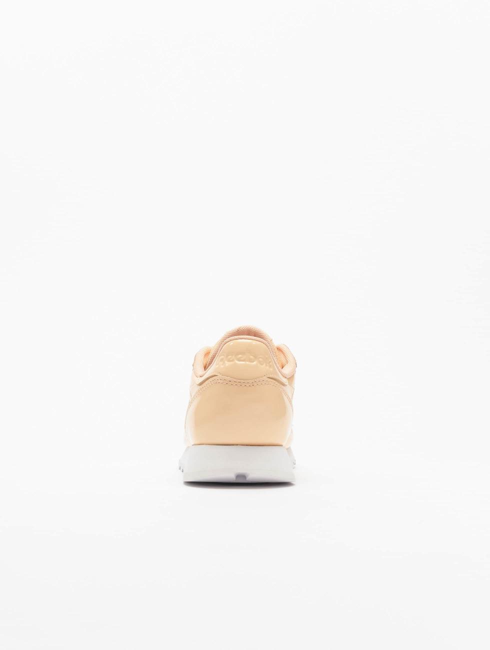 Reebok Sneakers Leather Patent bezowy