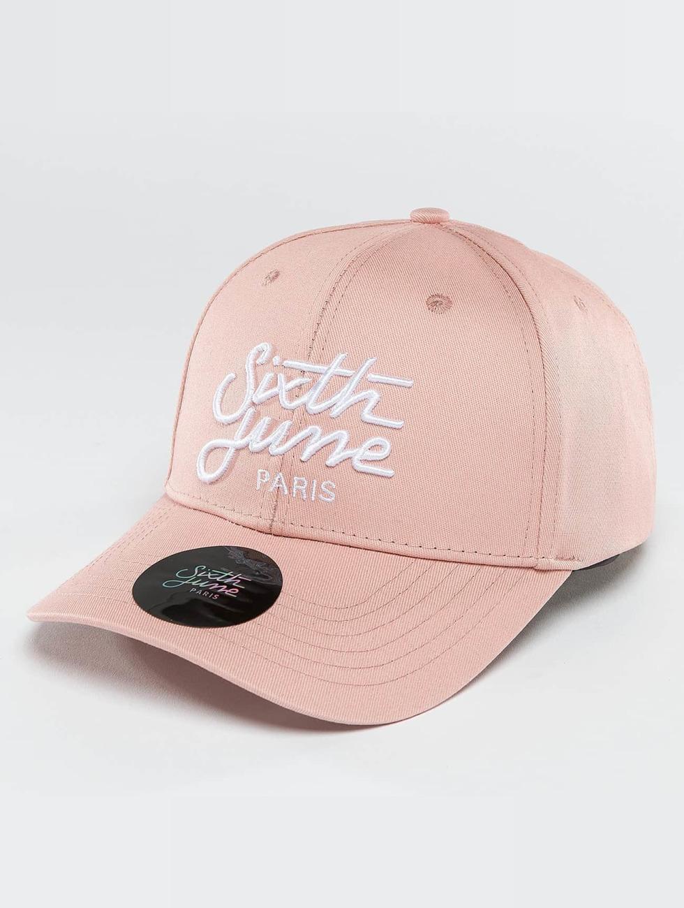 Sixth June Snapback Caps Curved Logo rózowy