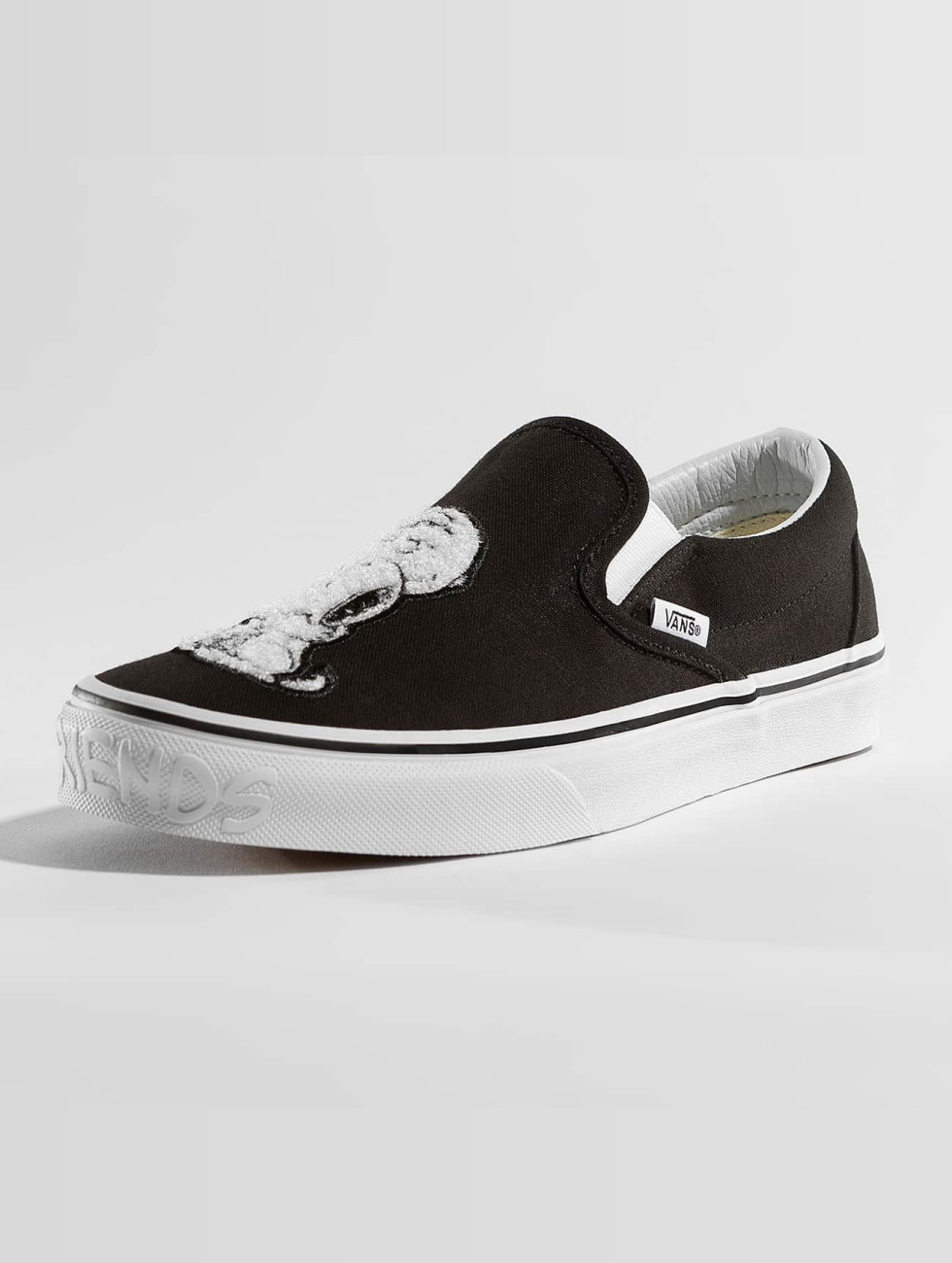 Vans Baskets Peanuts Classic Slip On noir