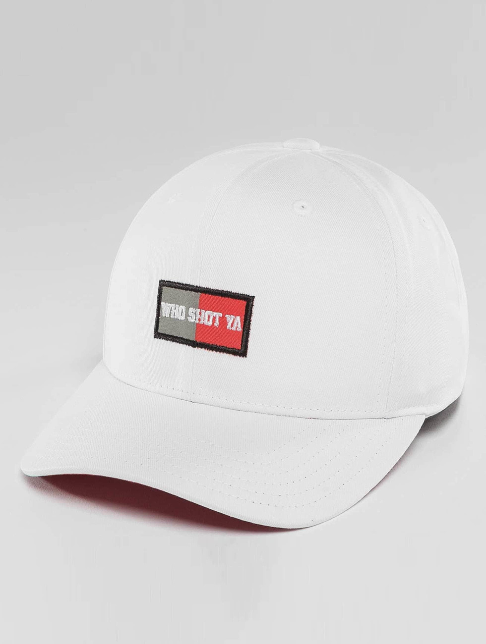 Who Shot Ya? Snapback Caps Daddy Fit Cap bialy