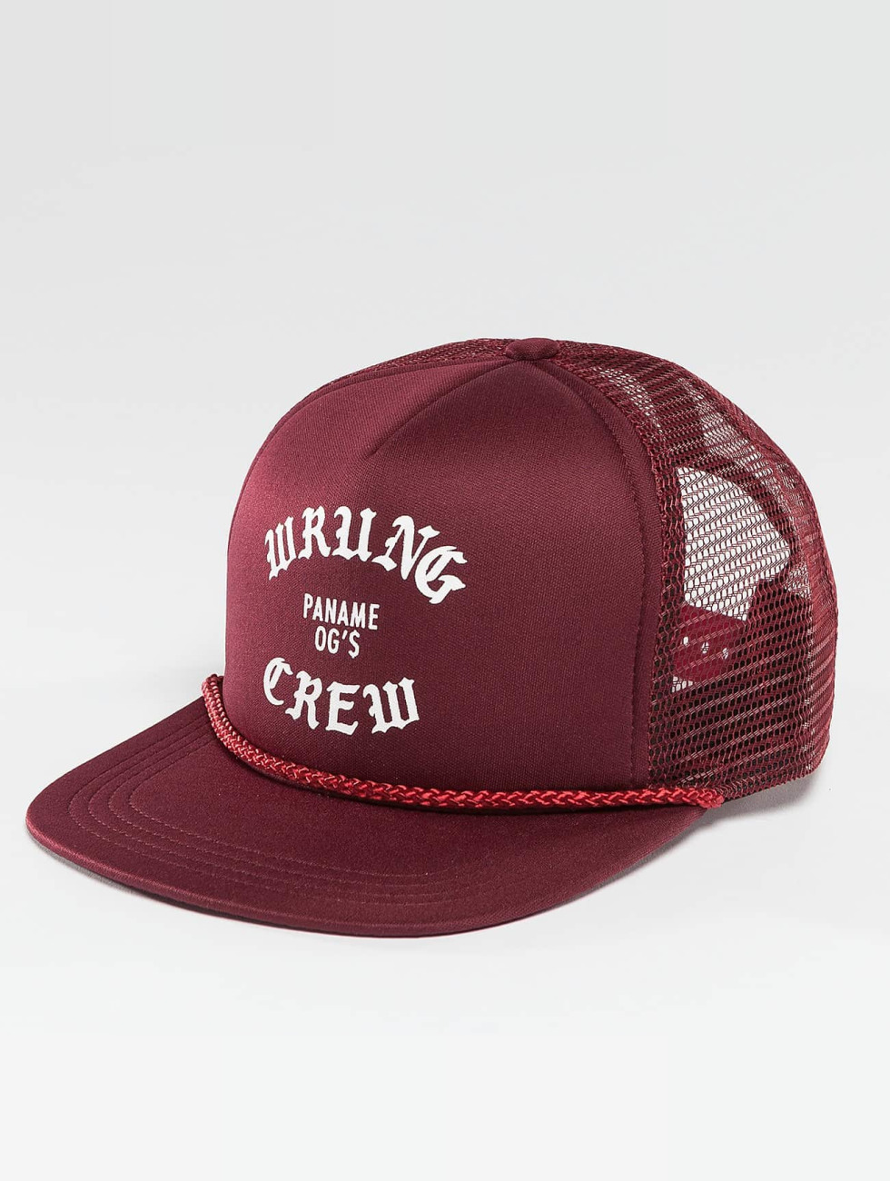 Wrung Division Trucker Cap Crew red