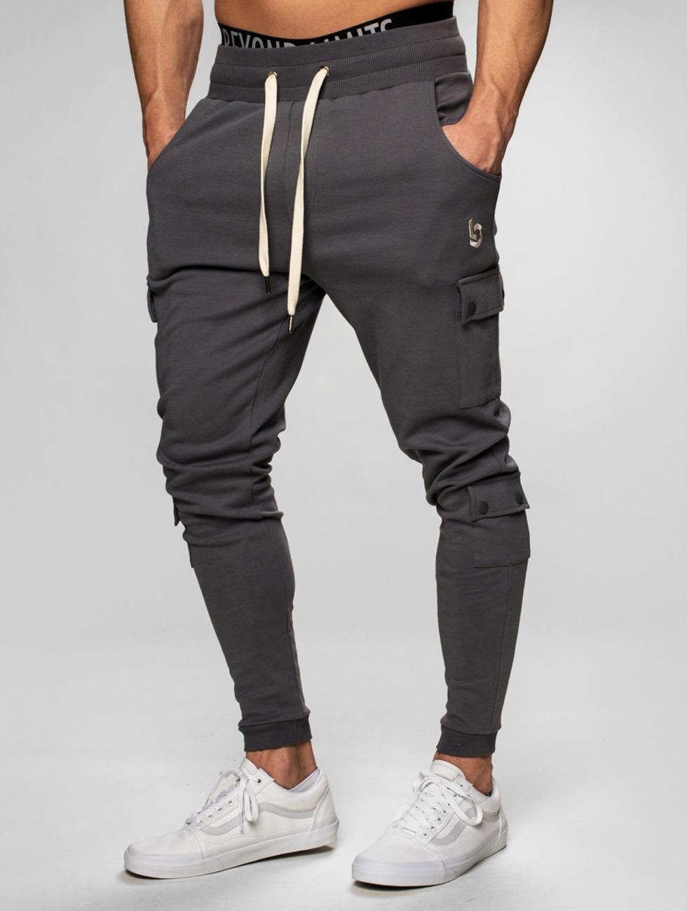 Beyond Limits Jogging kalhoty Cargo šedá