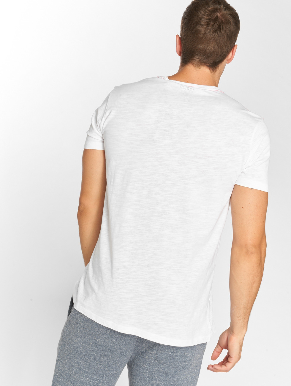 Solid t-shirt Odissan wit