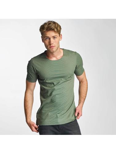 2Y Hombres Camiseta Snake in caqui