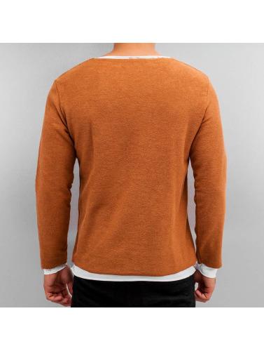 2Y Hombres Camiseta de manga larga Pett in naranja