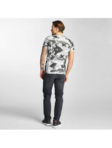 2Y Hombres Camiseta Camo in gris