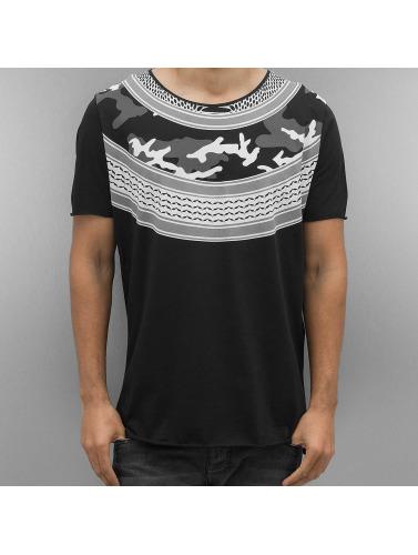 2Y Hombres Camiseta Pali in negro