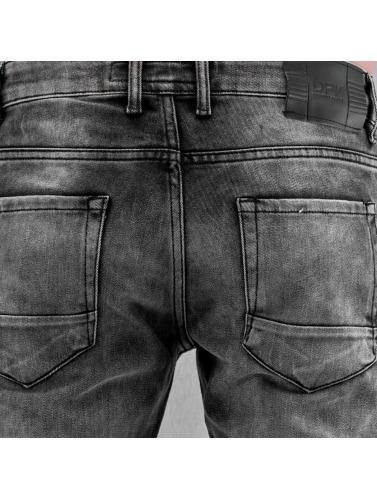 2Y Hombres Jeans ajustado Knee in gris