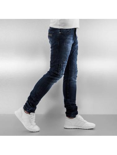 2Y Herren Skinny Jeans Bill in blau