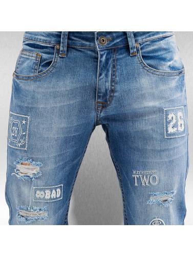 2Y Herren Skinny Jeans 2 Bad in blau