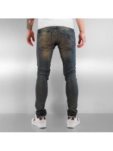 2Y Herren Skinny Jeans Washed in blau