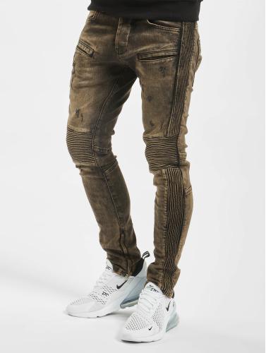 Neue 2Y Herren Skinny Jeans Quilted in braun Wo Kann Ich Bestellen QMi1EwyiK