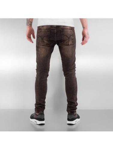 2Y Herren Skinny Jeans Used in braun