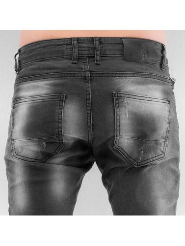 2Y Herren Skinny Jeans Seams in grau