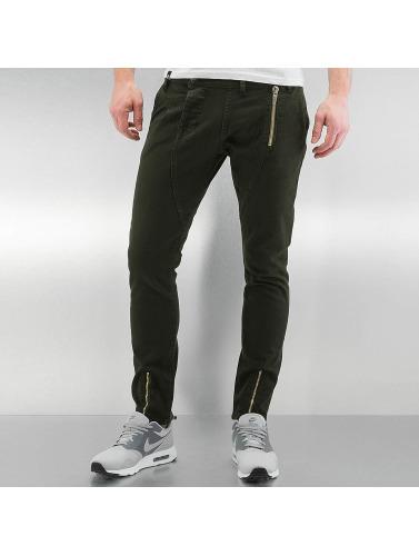 2Y Herren Skinny Jeans Bolton in khaki