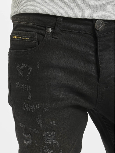 2Y Herren Skinny Jeans Used in schwarz