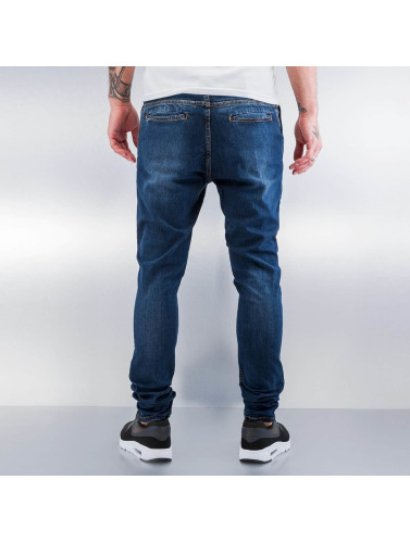 2Y Herren Slim Fit Jeans Used in blau
