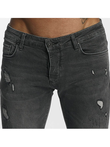 2Y Herren Slim Fit Jeans William in grau