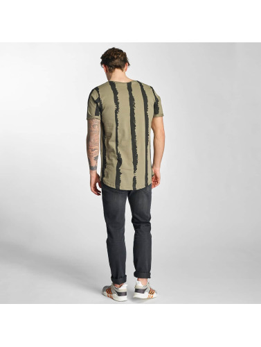 2Y Herren T-Shirt Stripes in khaki