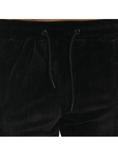 Aarhon Herren Anzug Velour in schwarz