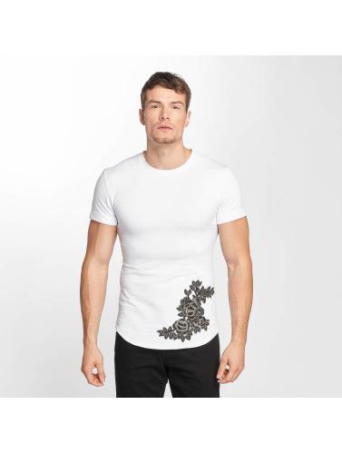 Aarhon Hombres Camiseta Flower Print in blanco