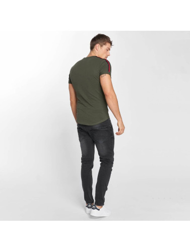 Stripe in Hombres Camiseta Aarhon caqui 8wxqZAvqS
