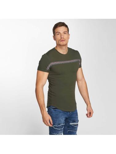 Aarhon Hombres Camiseta Streak in caqui