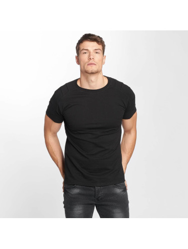 Aarhon Hombres Camiseta Destroyed in negro