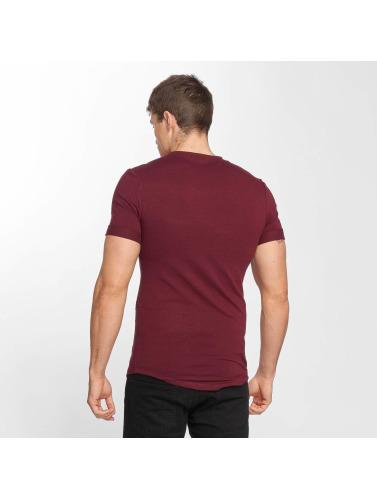 Aarhon Hombres Camiseta Flower Print in rojo