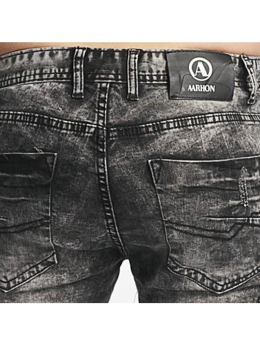 Aarhon Hombres Jeans ajustado Nizza in negro