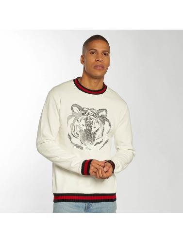 Aarhon Herren Pullover Tiger in weiß