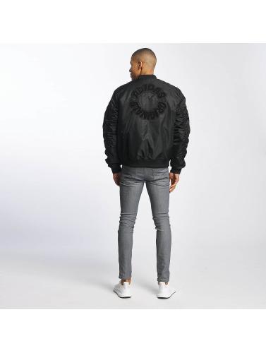 adidas originals Herren Bomberjacke Logo Padded in schwarz