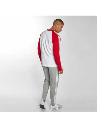 adidas originals Hombres Camiseta de manga larga 3-Stripes in rojo