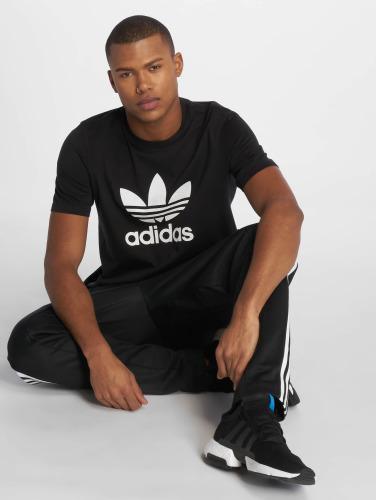 adidas originals Hombres Camiseta Trefoil in negro
