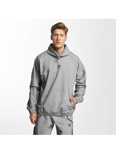 adidas originals Herren Pullover Taped Mock in grau