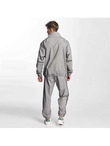 adidas originals Herren Pullover Taped Mock in grau