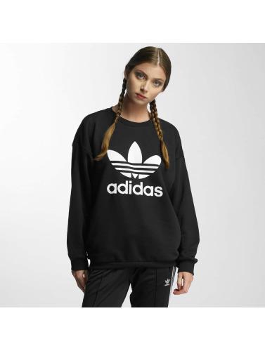 adidas originals Damen Pullover Trefoil in schwarz