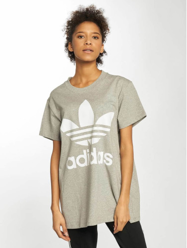 adidas originals Damen T-Shirt Big Trefoil in grau