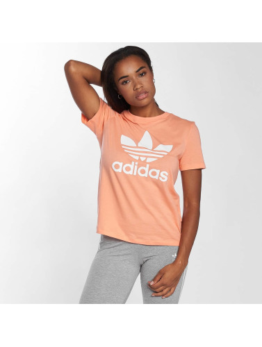 Adidas Originals Mesdames T-shirt Trèfle En Orange