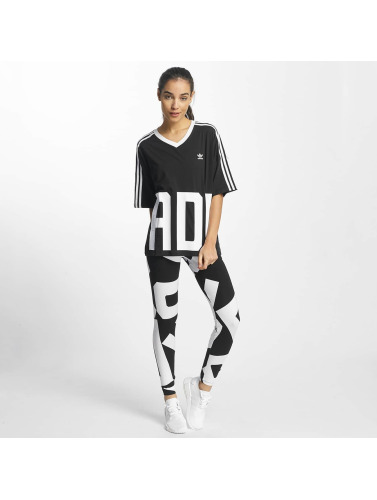 adidas originals Damen T-Shirt V-Neck in schwarz