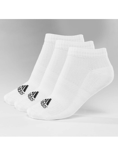 adidas Performance Calcetines 3-Stripes No Show in blanco