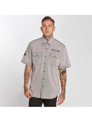 Affliction Hombres Camisa Tribbett in gris