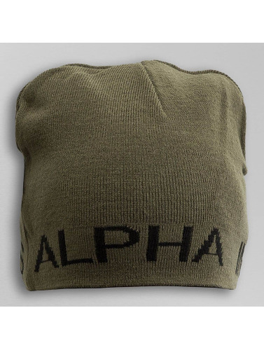 Alpha Industries Herren Beanie Reversible in schwarz