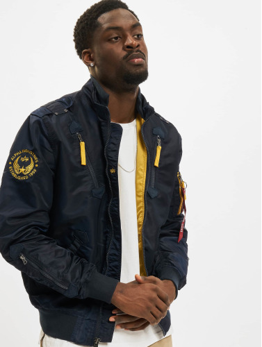 Alpha Industries Herren Bomberjacke Falcon II in blau