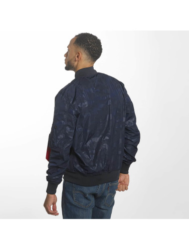 Alpha Industries Herren Bomberjacke MA-1 TT Hidden Camo in blau