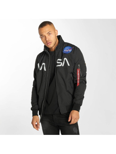 Alpha Industries Herren Bomberjacke NASA Flight in schwarz