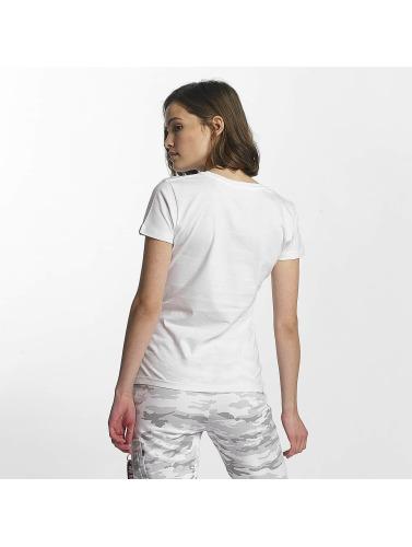 Alpha Industries Mujeres Camiseta Logo in blanco